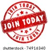 Join us today stamp - stock photo