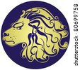 Lion. Astrology sign - stock photo