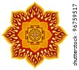 Lotus Sri Yantra Design - stock photo