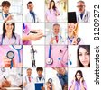 Medical concepts collage - stock photo