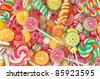 Mixed colorful fruit bonbon close up - stock photo