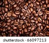 roasted grain coffee background - stock photo