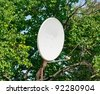 satellite antenna - stock photo