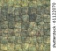 seamless grunge stone tiles - stock photo