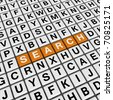 search (3D crossword orange series) - stock photo