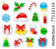 Set of Christmas icons, illustration - stock photo