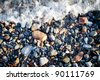 Stones on the beach in Taba resort, Egypt - stock photo