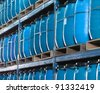 storage containers for liquids - stock photo