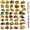 The most tasty fruit and vegetables - stock photo