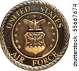 US Air Force commemorative plaque - stock photo