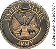 US Army commemorative plaque - stock photo