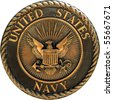 US Navy commemorative plaque - stock photo