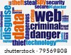 Web fraud - stock photo