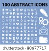 100 abstract icons set, vector - stock vector