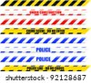 A Colourful Selection of Seamless Vector Warning Tape - stock vector