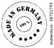 Abstract rubber stamp: Made in Germany - stock vector