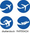airplane icons. Vector Illustration - stock vector