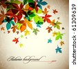 Autumn Background | Falling Leafs | EPS10 Compatibility Required - stock vector