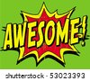 awesome - stock vector