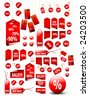 big set of vector price tags - you can use it for any sale time or seasons - stock vector