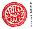 Big summer sale rubber stamp. - stock vector