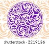 Celtic patterns with flower designs in a circle - stock vector