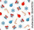 christmas seamless pattern vector - stock vector