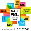 Collection of colorful sale backgrounds - stock vector