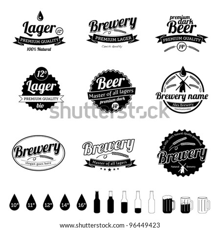stock vector collection of premium quality beer brewery template labels in old retro vintage design 96449423 packard wiring diagram get wiring and engine book 1966 Plymouth Fury Parts at fashall.co