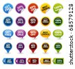 Colorful vector badges and tags - stock vector