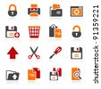 Document icons set 1 - stock vector