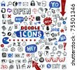 Doodled vector icons for any project. - stock vector