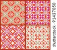 Elegant seamless patterns. This beautiful patterns can be used for wallpaper, pattern fills, web page background, surface textures. - stock vector