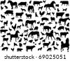 farm animals - vector - stock vector