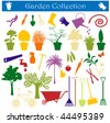 garden collection - stock vector