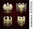Heraldic symbols of an eagle vector - stock vector
