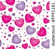 lollipops seamless pattern, valentine's day illustration, vector eps 10 - stock vector