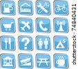 Map GPS icon set - stock vector