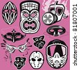 Mask Collection - stock vector