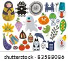 Mix of different vector images and icons. vol.23 - stock vector