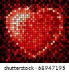 mosaic heart - stock vector