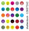 New style smile face icons - stock vector