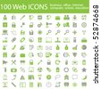 One hundred different highly detailed vector Icons for Web Applications. Business, Office, Internet, School and Education. - stock vector