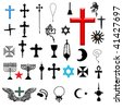 religion symbol set - stock vector