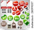 Sale icons and different product labels package (easy editable, see also other icons in my portfolio) - stock vector