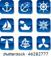 Sea and navigation icons - stock vector