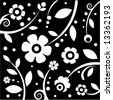 stylish black&white pattern - stock vector