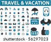 travel signs. vector - stock vector