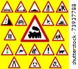 Triangle Road Signs - stock vector