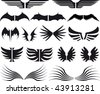 various wings set icons, images and insignia - stock vector